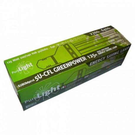 Pure Light CFL 125W GreenPower (2700K-6400K) Bajo Consumo