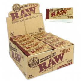 Raw Wide Tips / Hemp Cotton Organic Display 50 Tips