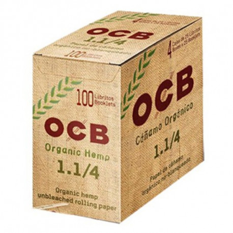 Ocb Organic Hemp 1 1/4 Display 100 Librillos