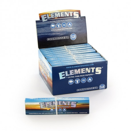 Elements King Size+Tips Display 24 librillos