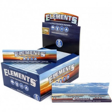 Elements Ultra Thin Rice Paper King Size Slim Display 50 unidades