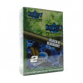 Juicy Hemp Wraps Black N Blueberry 25x2
