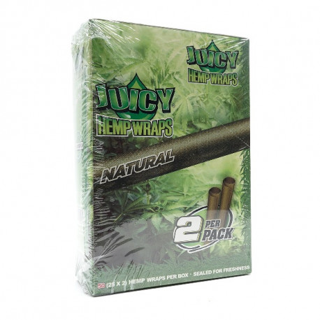 Juicy Hemp Wraps Natural 25x2