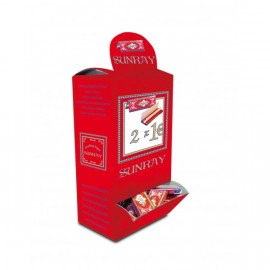 Papel de Fumar Sunray 1 1/4 Display Expositor 100 Librillos