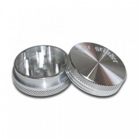 Pure Grinder 2 Partes 38MM Silver Magnetico