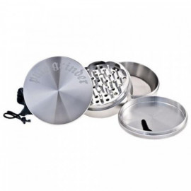 Pure Grinder 4 Partes 90MM Silver Magnetico
