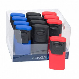 Encendedor Zenga Slider Rubberized Display 12 Unidades